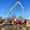 A concrete pour with pump on a beautiful Sunday winters day in Ware, Hertfordshire. #readymix #concretepumping #cementmixer #ware #hertfordshire